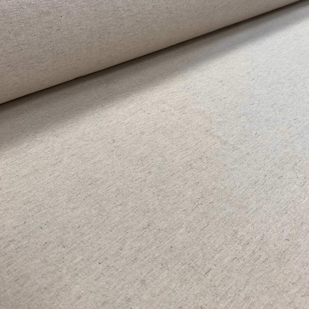 Kt KILOtela Tela de loneta Lisa - Algodón, Lino, poliéster - Solidez a la luz: 5-6 - Retal de 100 cm Largo x 280 cm Ancho   Beige Lino