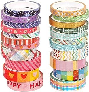 O-Kinee Washi Tape, Masking Tapes, Washi Tape Set, Ruban Adhésif Décoratif pour Artisanat, pour Ruban adhésif décoratif Br...