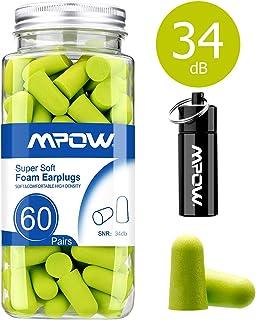 Mpow HP055A 055A, 34dB SNR Soft Foam, 60 Pairs EarPlugs with