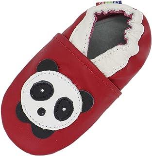 Chaussons Cuir Souple Panda Kivala