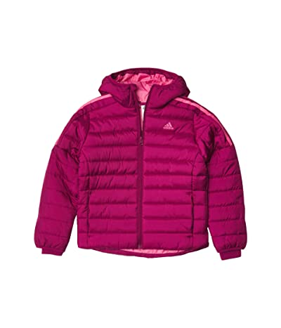 adidas Kids Puffer Jacket Classic (Big Kids) (Power Berry) Girl