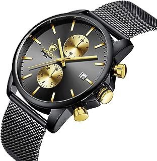 Men's Watches Fashion Sport Quartz Analog Black Mesh...