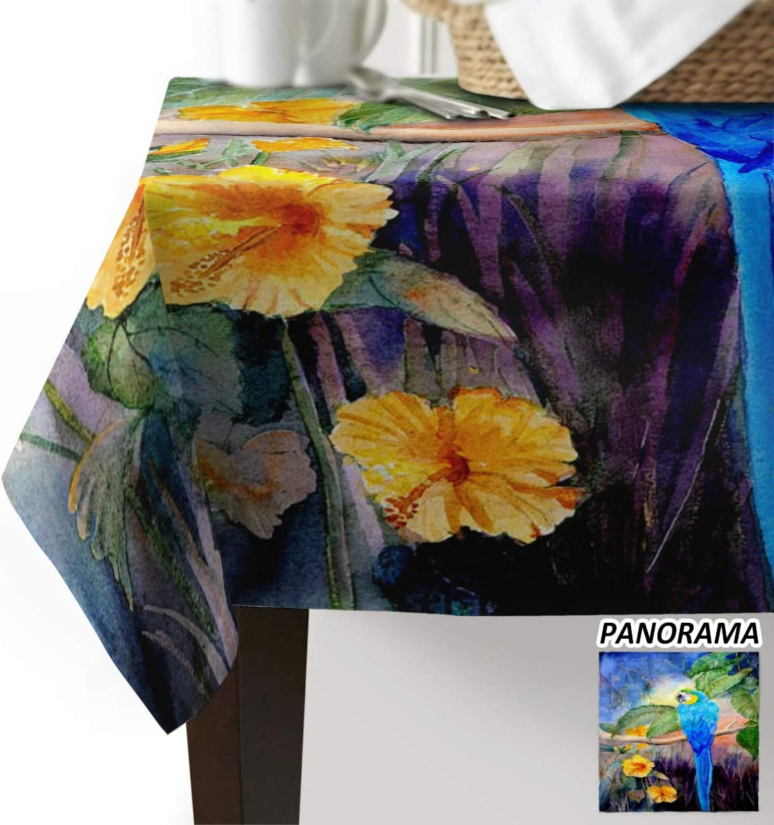 Advancey Rectangle Table お買得 Cloth Watercolou 待望 Tablecloth Spill-Proof