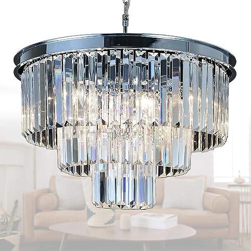 hot sale online f6c33 923da Chandelier Modern Crystal Round: Amazon.com
