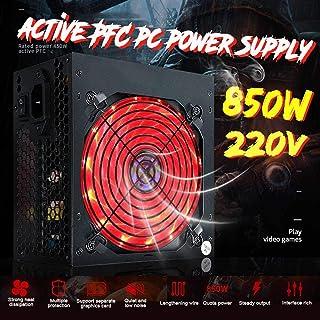 إمدادات الطاقة للكمبيوتر الشخصي - مزود طاقة جديد بقوة 850 واط بمروحة PFC صامتة ATX PC لألعاب الكمبيوتر الشخصي مع LED للكمب...