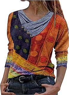Sudadera para Mujer,Moda Manga Larga Casual Fuera del Hombro Sudaderas Cortos Cuello Redondo Jersey Mujer Otoño Primavera ...