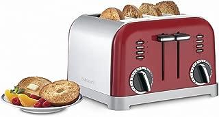 Cuisinart CPT-180MR Classic 4-Slice Toaster, Metallic Red