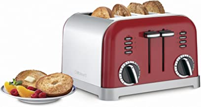 Cuisinart CPT-180MR Classic 4-Slice Toaster, Metallic Red