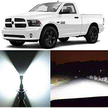 Amazon Com Alla Lighting 2pcs Super Bright White H11 Led Headlight Bulbs For Low Beam Headlamp For 2013 2014 2015 2016 2017 Ram 1500 2500 3500 W O Projector Headlamp 2009 2010 2011 2012 W 4 Headlamps Automotive