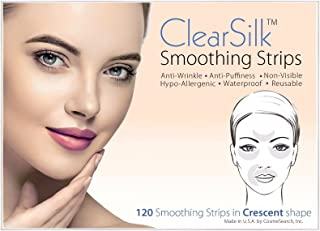 ClearSilk Smoothing Strips (Crescent 120 Ct) Facial Wrinkle Repair and Prevention Anti-Wrinkle Patches