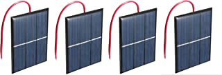 AMX3d Micro Mini Solar Cells Multipack– 1.5V 400mA Compact 80 x 60mm Solar Panels – Power Home DIY Projects, Toys & Battery Chargers (4)