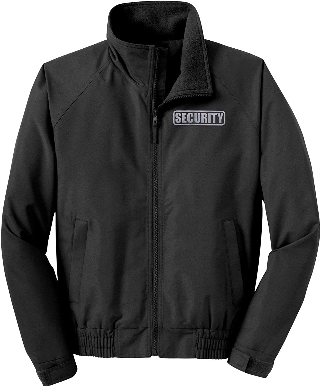 Smart People Clothing Security Jacket, Economy, Reflective Logo, Security Guard Charger Jacket Black