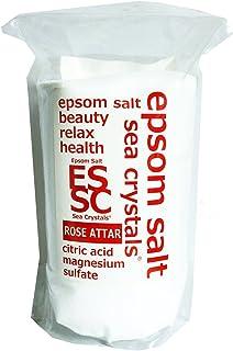 【Amazon.co.jp 限定】エプソムソルト 2.2kg ローズオットーの香り 入浴剤 (浴用化粧品)クエン酸配合 計量スプーン付