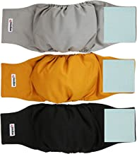 Wegreeco Washable Male Dog Diapers (Pack of 3) - Washable Male Dog Belly Wrap X-small Multi-colored WE-NMD07-CA