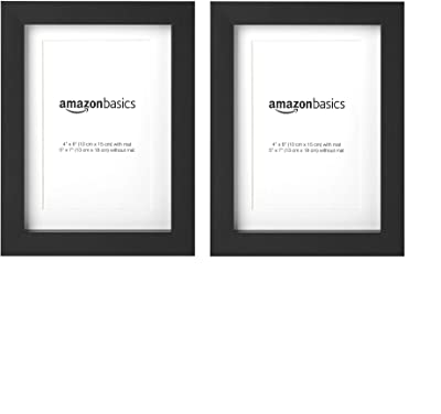 Amazoncom Amazonbasics Photo Frame With Mat 5 X 7 Matted To 4