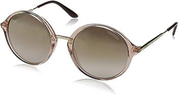 Carrera Brown Mirror Gold Round Ladies Sunglasses
