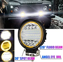 Quad Bateau Augproveshak 2pcs LED Barre Lumineuse Projecteurs Carr/és Lumi/ère LED pour Camions Jeep Lumi/ères Tout-Terrain 12v ~ 24v 4inch 48w LED Lumi/ère De Travail V/éhicule Tout-Terrain