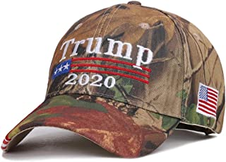 Sanlery Trump Hat 2020 Keep America Great Baseball Cap Embroidery Sports Outdoor Hats with USA Flag Camo
