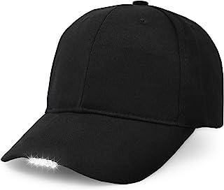 UltraKey Hands Free LED Baseball Cap, Light Glow Bright Women Men Sport Hat Dark for Outdoor Jogging Breathable Snapback H...