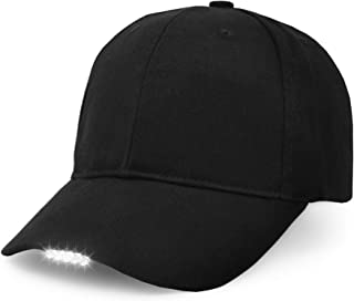 Hands Free LED Baseball Cap Light Glow Bright Women Men Sport Hat Dark for Outdoor Jogging Breathable Snapback Hats Hip Hop Party Holiday