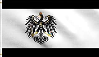 DMSE Kingdom of Prussia Prussian Germany German Flag 3X5 Ft Foot 100% Polyester 100D Flag UV Resistant (3' X 5' Ft Foot)