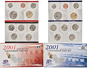 2001 P & D US Mint 20-Coin Mint Set with State Quarters Uncirculated