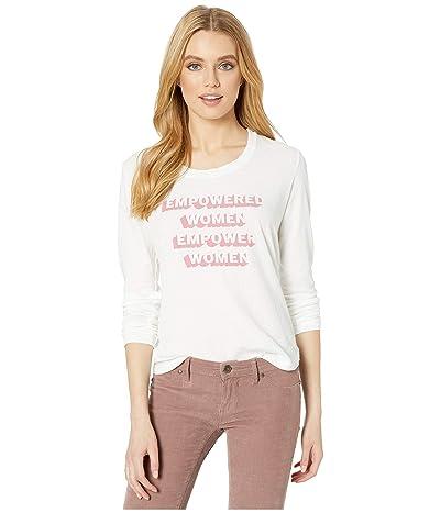 good hYOUman Rigby Empowered Women Long Sleeve (Optic White) Women