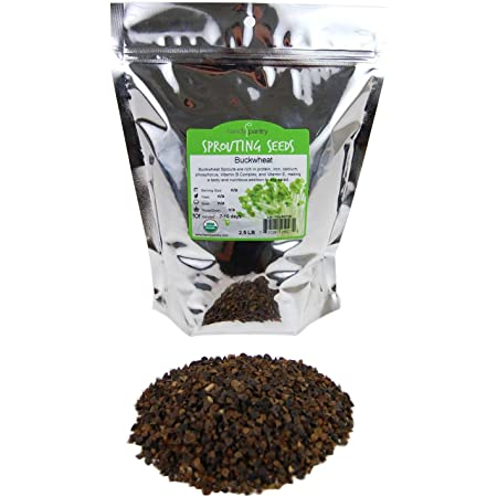 Buckwheat Seeds For Vegans Sprouting RAW Organic Healthy Food Non GMO 200gr
