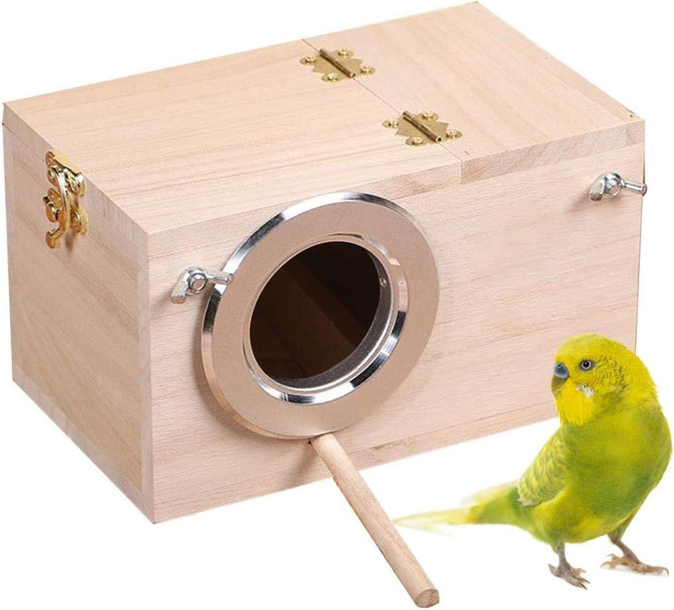 Tfwadmx Parakeet Nesting Fixed price for sale Box Bird Breeding Wood Nest Super intense SALE H Cage