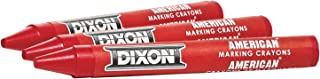 DIXON Industrial Round American Marking Crayons, Red, Pack of 12 (05010)