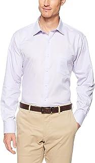 Van Heusen Men's Euro Tailored Fit Shirt Mauve Self Stripe