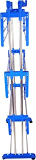 SUNDEX Stainless Steel Cloth Drying Stand - Prince Jumbo - 2 Poll - 3 Layer (Sky Blue)