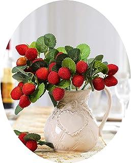 Simulation Fruit Artificial Fake Plants Raspberry Plastic Berry Strawberry Decorative Fake Flower for Home Garden Decoration