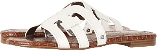 Bright White Vaquero Saddle Leather
