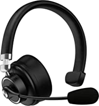 Trucker Bluetooth Headset with Microphone, KKUYI 40 Hrs Wireless Headset, Noise Cancelling Mic, On-Ear Headphones, Cell Ph...