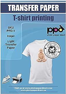 """PPD 8.5 x 11"""" Papel De Transferencia Térmica Para Camisetas y Tejidos Blancos o Claros, 100 Hojas - PPD-1-100"""