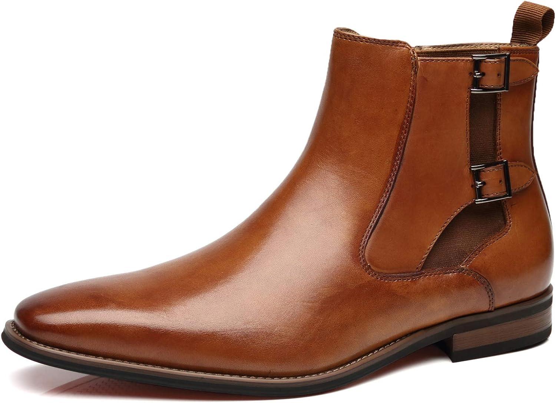 La Milano Men's Chelsea Boots Genuine Leather Comfortable Ankle Boots Classic.