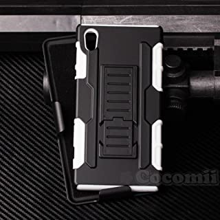 Cocomii Robot Armor Compatible for Sony Xperia Z5 Case New [Heavy Duty] Premium Belt Clip Holster Kickstand Shockproof Hard Bumper [Military Defender] Full Body Dual Layer Rugged Cover (R.White)