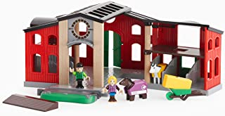 BRIO World - 33791 Horse Stable | 12 Piece Toy and Train Accessory for Kids Ages 3 and Up
