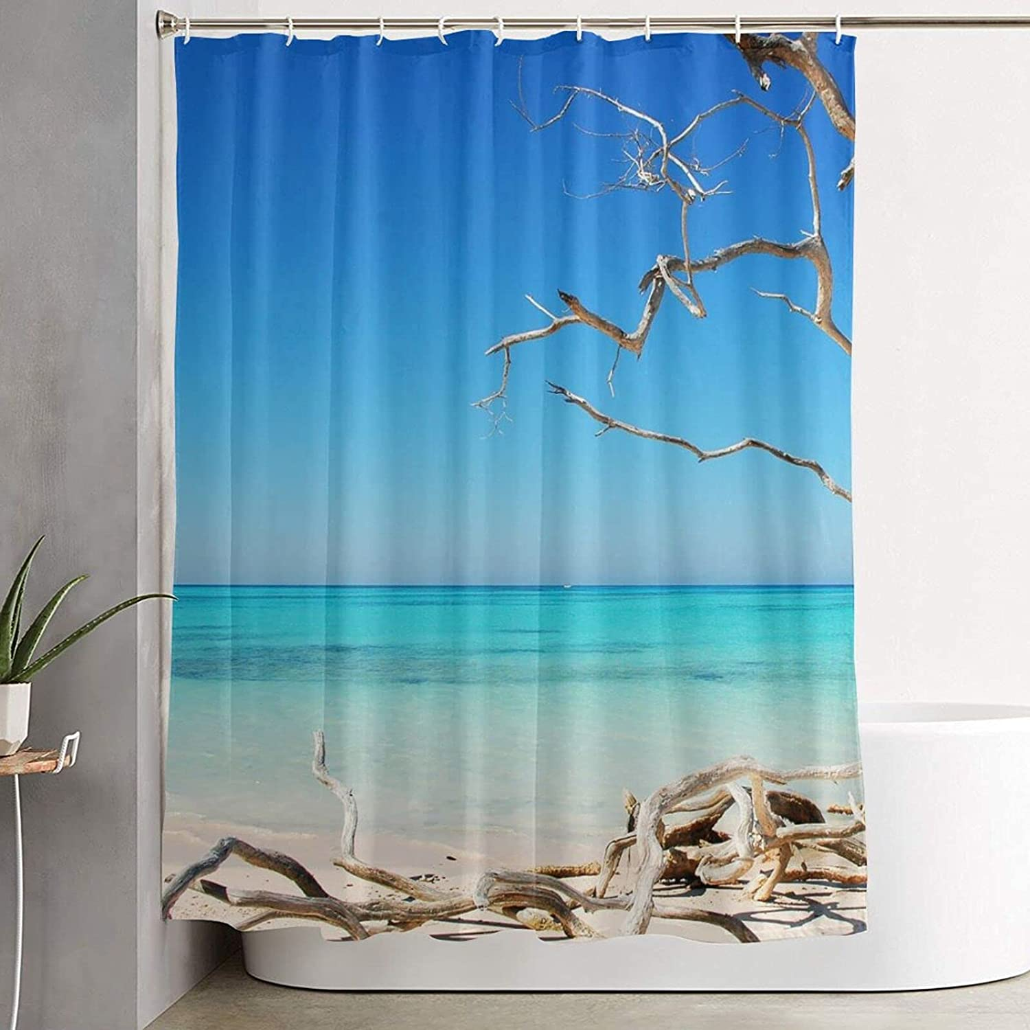 Beach Artistic and Fashionable Attention brand Shower Pattern Curtain Rich 2021 autumn and winter new Prin