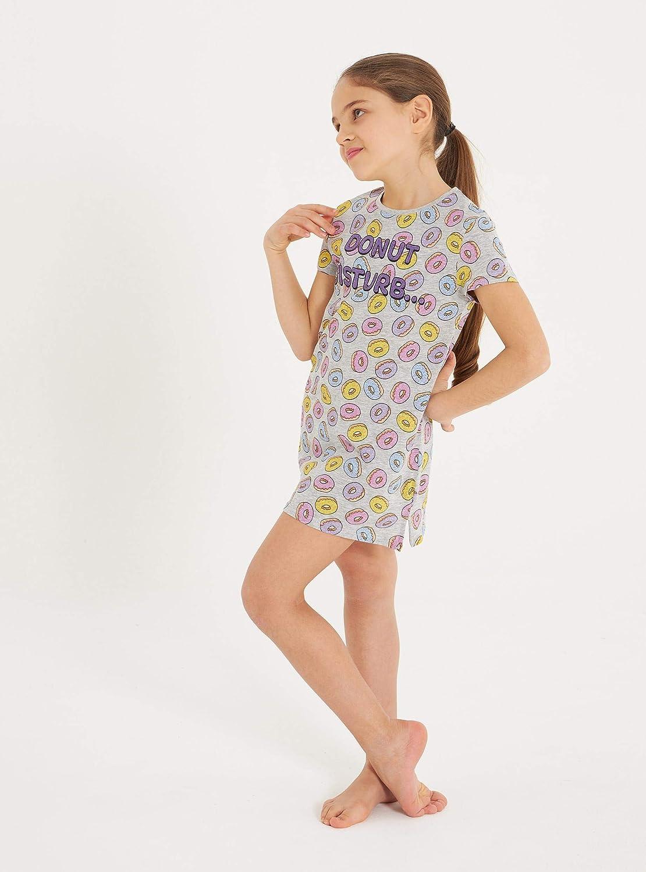 Maxi T-Shirt Pigiama A Fantasia all-Over Donut Bambina