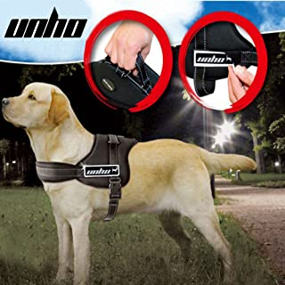 UNHO Dog Vest Harness No Pull Pet Harness Adjustable Outdoor Pet Vest Soft Nylon Material Easy Control Harness for Small M...