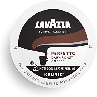 Lavazza Perfetto Single-Serve Coffee K-Cup® Pods for Keurig Brewer, Dark Roast, 10-Count Boxes (Pack of 6)