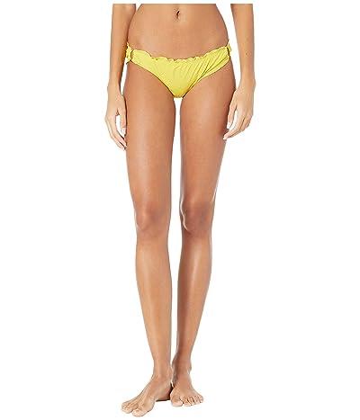 Kate Spade New York Solids Ruffle Edge Bikini Bottoms (Lemon Cake) Women