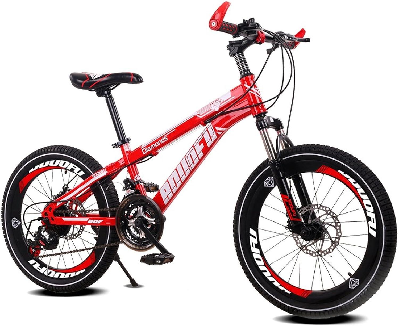 ahorre 60% de descuento LBYMYB Bicicleta para Niños de de de 7-10-14 años de Edad Bicicleta de Montaña 18 20 Pulgadas Cochero de bebé Bicicleta de Acero de Alto Cochebono, Azul Amarillo Rojo Naranja Bicicleta para Niños  suministro de productos de calidad