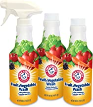 Arm & Hammer Fruit & Vegetable Wash, Produce Wash, Produce Cleaner, Pack of 3, 16 oz. Bottles, 1 Trigger (Packaging May Vary)