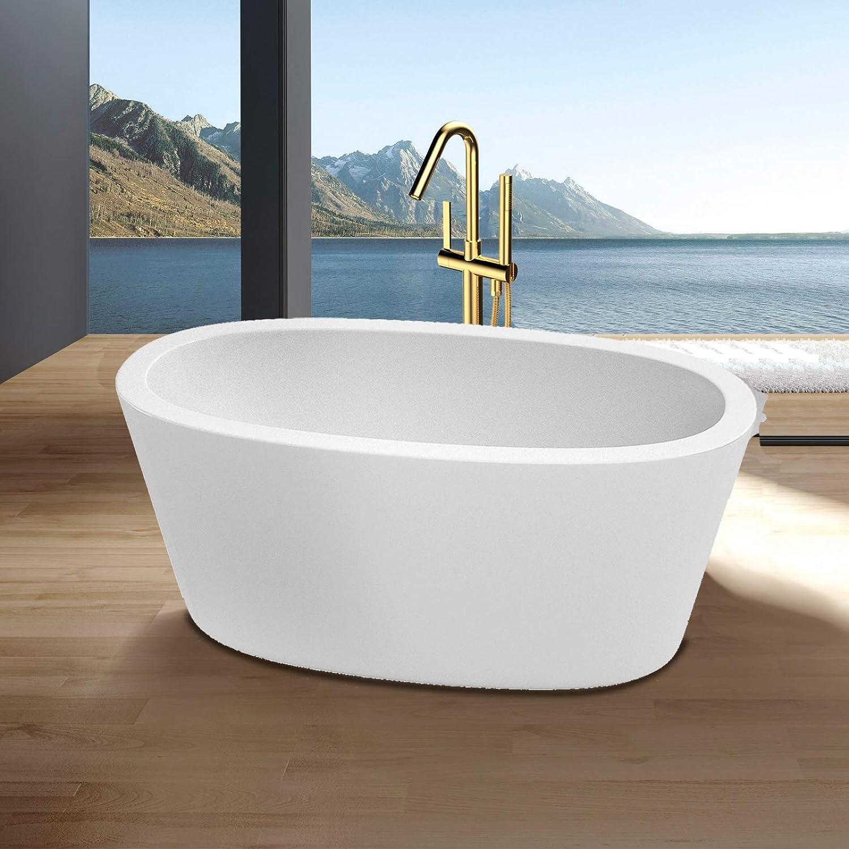 1 year warranty 58-Inch Freestanding Bathtub Modern Award-winning store Durable Sturdy Style and