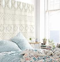 Flber outlet Macrame Wall Hanging Macrame Curtains Boho Door Curtain Panels Handmade Wall Art Home Wall Décor,52
