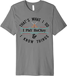 Funny Ice Hockey T shirt, Cool Hockey Stuff Player Gift