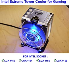 Genuine Intel Core i7-7700K / i7-8700K / i7-9700K Processor's Extreme Tower Heat Sink with Copper Pipes and LED Cooling Fan